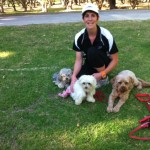 Brooke with Chico, Charile and Peppa in the park